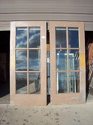 Set of  painted metal clad double doors   (MC 3) 4