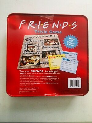Friends TV Show 2003 Trivia Game Picture Cards in Collectible Red Tin COMPLETE 2