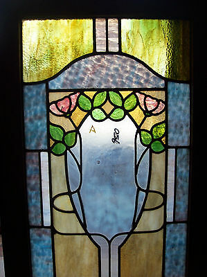 floral stained and textured glass window (SG 1446) 2