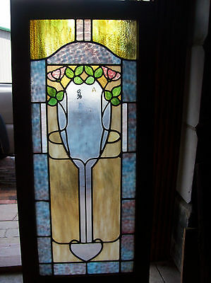 floral stained and textured glass window (SG 1446) 4