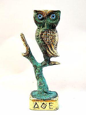 Ancient Greek Bronze Museum Replica Of Owl Symbol Of Athena Goddess Of Wisdom 2