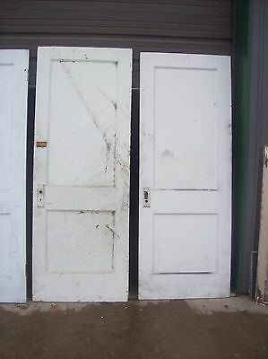 4 available painted 2 panel flat doors    (D q) 6