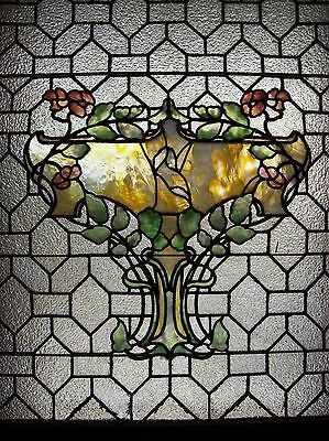 Pretty Floral covered urn geometrical   (SG 1561) 3