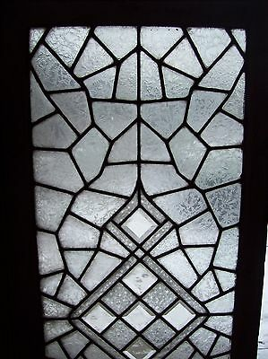 3 available abstract windows textured glass with bevels   (SG 1543) 2