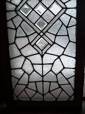 3 available abstract windows textured glass with bevels   (SG 1543)