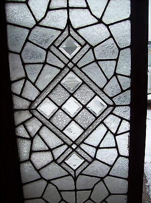3 available abstract windows textured glass with bevels   (SG 1543) 3