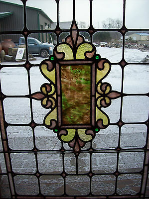 Beautiful stained glass center cluster in flat glass (SG 1368) 5