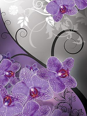 Fototapeten fototapete tapete foto wandbild ornament - Tapete lila grau ...
