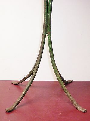 Vintage Ceramic Tile Wrought Iron Bamboo Leg Table #01 7
