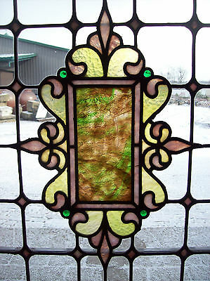 Beautiful stained glass center cluster in flat glass (SG 1368)