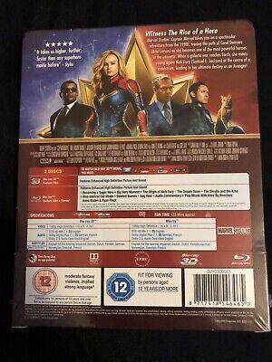 Captain Marvel / 2 Disc Blu-ray Steelbook 2019 (Cert 12) Region ABC New & Sealed 2