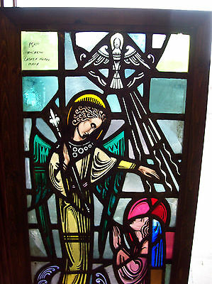 Annunciation Gabriel and Mary Stained glass window (SG 1431) 7