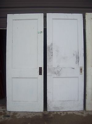 4 available painted 2 panel flat doors    (D q) 2