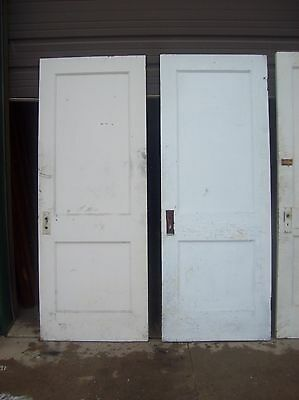 4 available painted 2 panel flat doors    (D q) 5