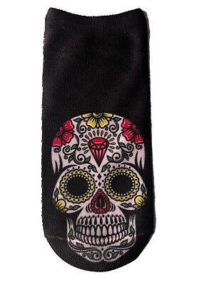 Socken La Catrina Calavera Totenkopf Skull Punk Biker Tattoo K9.10 Füßlinge