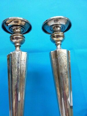 Antique Sterling Silver Candle Holder Height : 14 inches, Pair, PRICE REDUCED 7
