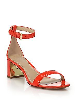 ab4eb532d01 NEW TORY BURCH Cecile 55 Sandals City Pepper Red Patent Leather Orange  Shoes 9.5
