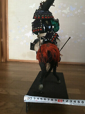 32cm Japanese Antique SAMURAI Armor YOROI Doll MUSHA NINGYO with Horse 11