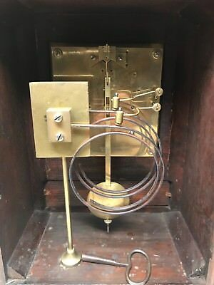 Late 19th Century Brass Dial German 1/4 Striking Bracket Mantel Clock. Not Fusee 6