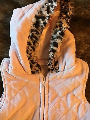 Girls Pink Age 2 Gilet Good Condition 2