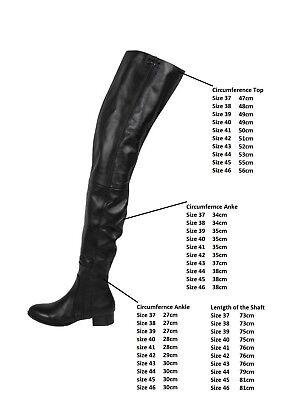 38 Heel NeuArollo Low Stiefel Overknee Echtleder Lange 37 5jLq43AR