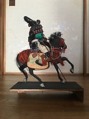 32cm Japanese Antique SAMURAI Armor YOROI Doll MUSHA NINGYO with Horse 6