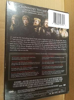 Game of Thrones: The Complete First Season (DVD, 2012, 5-Disc Set) NEW SEALED 2