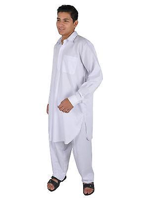 Due pezzi Salwar Kameez insieme Pantaloni Tunica in Stile pakistano bianco 5