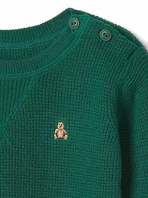 72d0de477 GAP BABY BOY Size 3-6 Months Green Waffle Knit Pullover Sweater ...