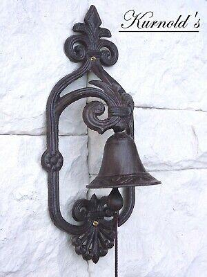 Türglocke Glocke Tor Tür Haustür Eisen Antik Bell Landhausstil Kurnolds 0171 2
