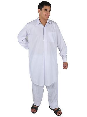Due pezzi Salwar Kameez insieme Pantaloni Tunica in Stile pakistano bianco 4