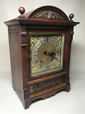Late 19th Century Brass Dial German 1/4 Striking Bracket Mantel Clock. Not Fusee 2