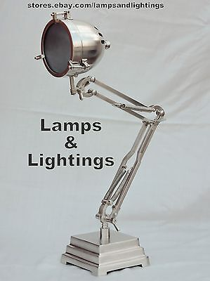 Industrial Pewter Table Desk Lamp Light Metal Pipe Steampunk Metal Modern Lamp