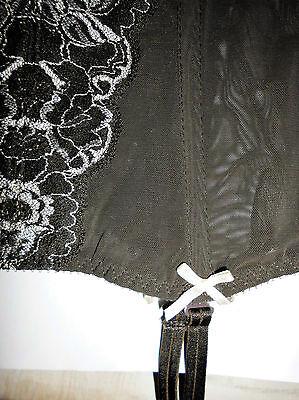 Korsage 70 C geformte Körbchen, verspielt, Farbe, dunkel braun mit beiger Spitze 6