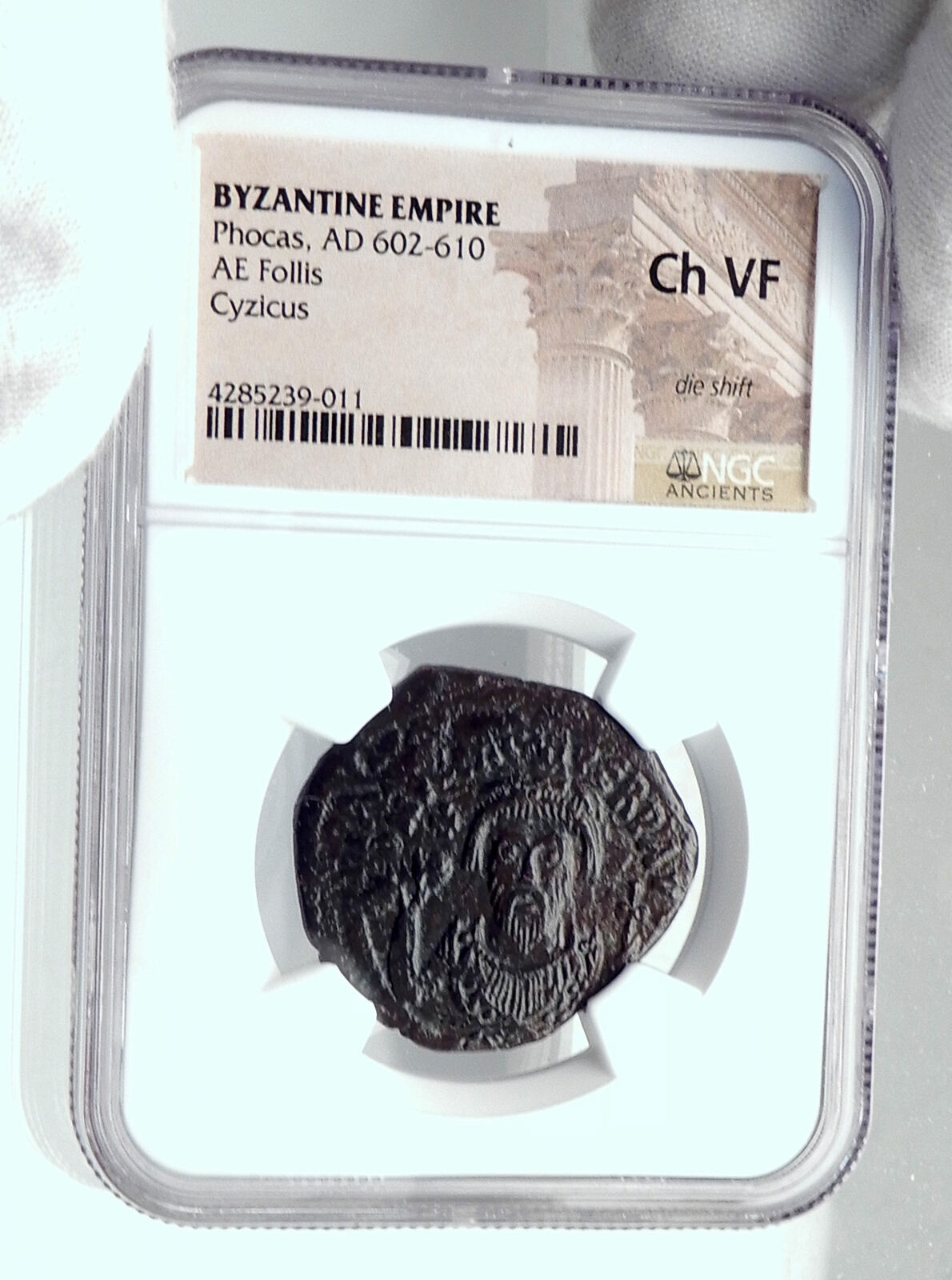 PHOCAS Authentic Ancient 602AD Follis Genuine Medieval Byzantine Coin NGC i81326 3