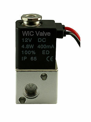 "1/8"" Inch Pneumatic 3 Way Electric Air Solenoid Valve 12V DC Zero Pressure Valve"