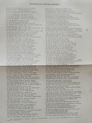 1897 EINE SEITE AUS DER NIBELUNGENHANDSCHRIFT antiker alter Druck antique print