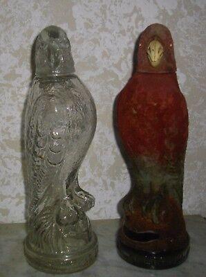 Dos Excelentes Licoreras De Cristal ( Vintage) De Licor Marca El Lorito 2