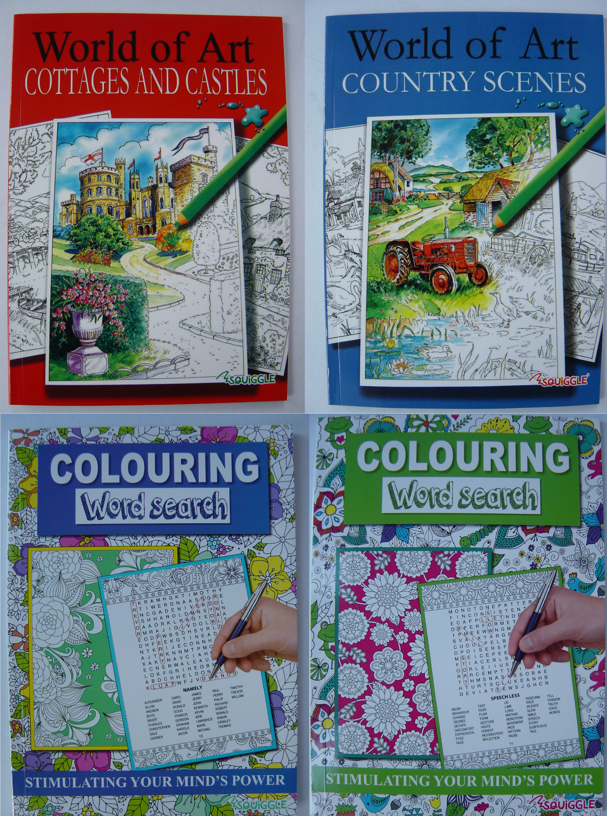 Adult Colouring Book Mind Relaxing stress relief therapy good quality, 14 books 2