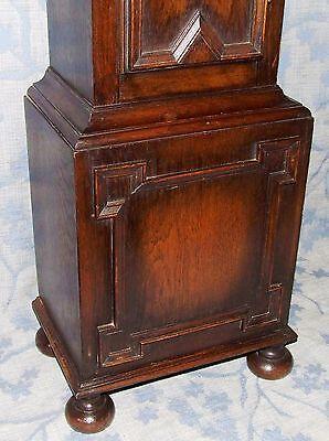 Antique Oak Grandmother / Miniature Grandfather Clock : Weight Driven Movement 10