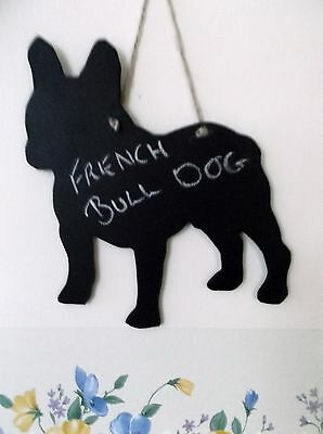FRENCH BULL DOG HEAD chalkboard wall plaque kennel sign notice unique gift