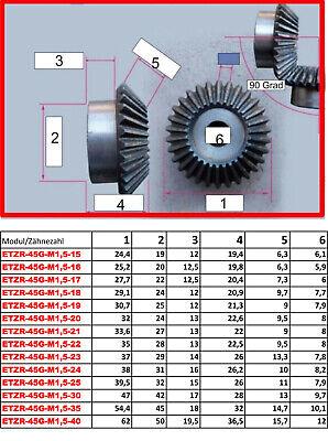 ETZR-45G-M1-25Z  Zahnrad Kegelrad Modul1 25 Zähne 45 Grad für Übersetzung 1:1 2