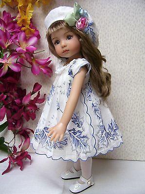 """Hanky Dress, Hat  PATTERN for 10"""" to 16"""" Dolls  Little Darling,  Bleuette, 2"""
