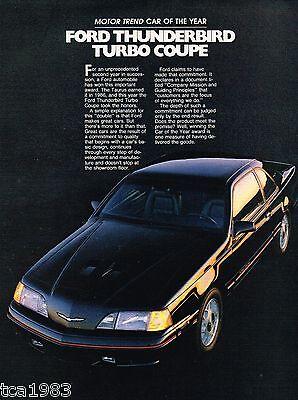 Mint! 1988 Ford Thunderbird Brochure Sport//LX//Turbo