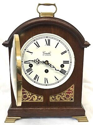 Antique Style COMITTI LONDON Mahogany Bracket Mantel Clock WESTMINSTER CHIMES 5