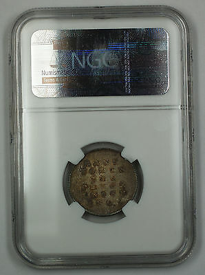 1805 Bank of Ireland 10 Pence Bank Token Coin George III NGC KM-Tn3 MS-62 AKR