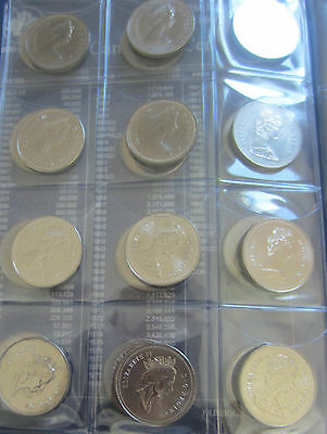 Complete Set of Canada Half Dollars Coins (1968-2013) In UNI-Safe Blue Book 6