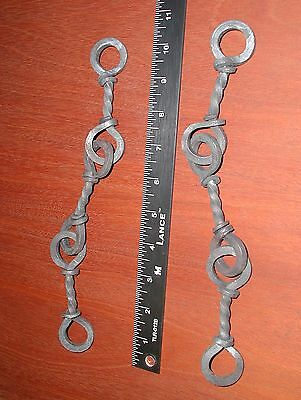 Large Wrought Iron Twisted 9 3/4 in. S-Hook Hanger,by Blacksmiths 9