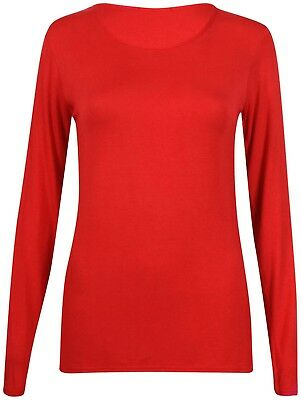 Women Ladies Underwear Winter Warm Fleece Fur Lined Thermal Long Sleeve Top New 9