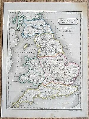 12 19th Century Great Britain England Wales Various Genuine Antique Maps 2